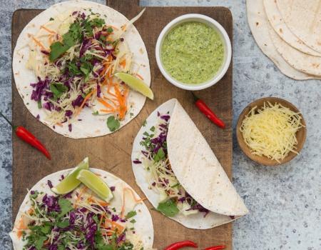 Tacos con verdure e Emmental grattugiato Entremont